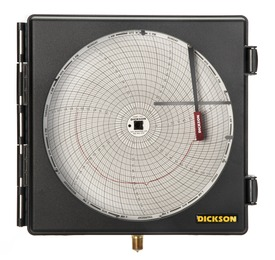 "8"" (203mm) Pressure Chart Recorder 0-300 PSI, 24-Hour"